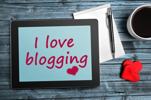 The words I love blogging on tablet