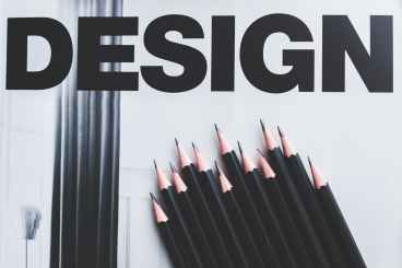 black pencils and design word